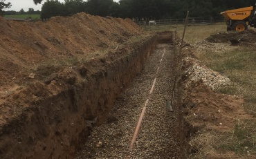 GO Tankers New Soakaway Install Trench